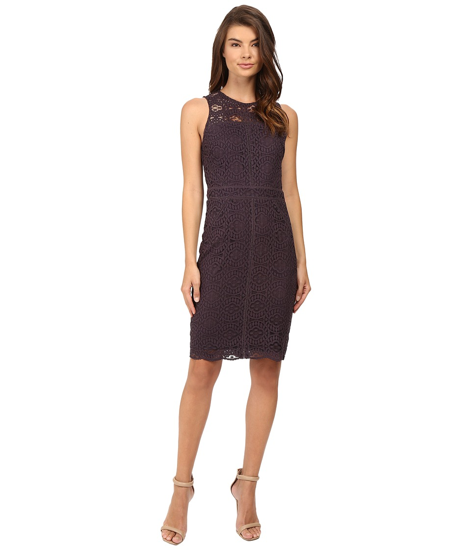 Adelyn Rae - Lace Sheath Dress (Grey) Women's Dress