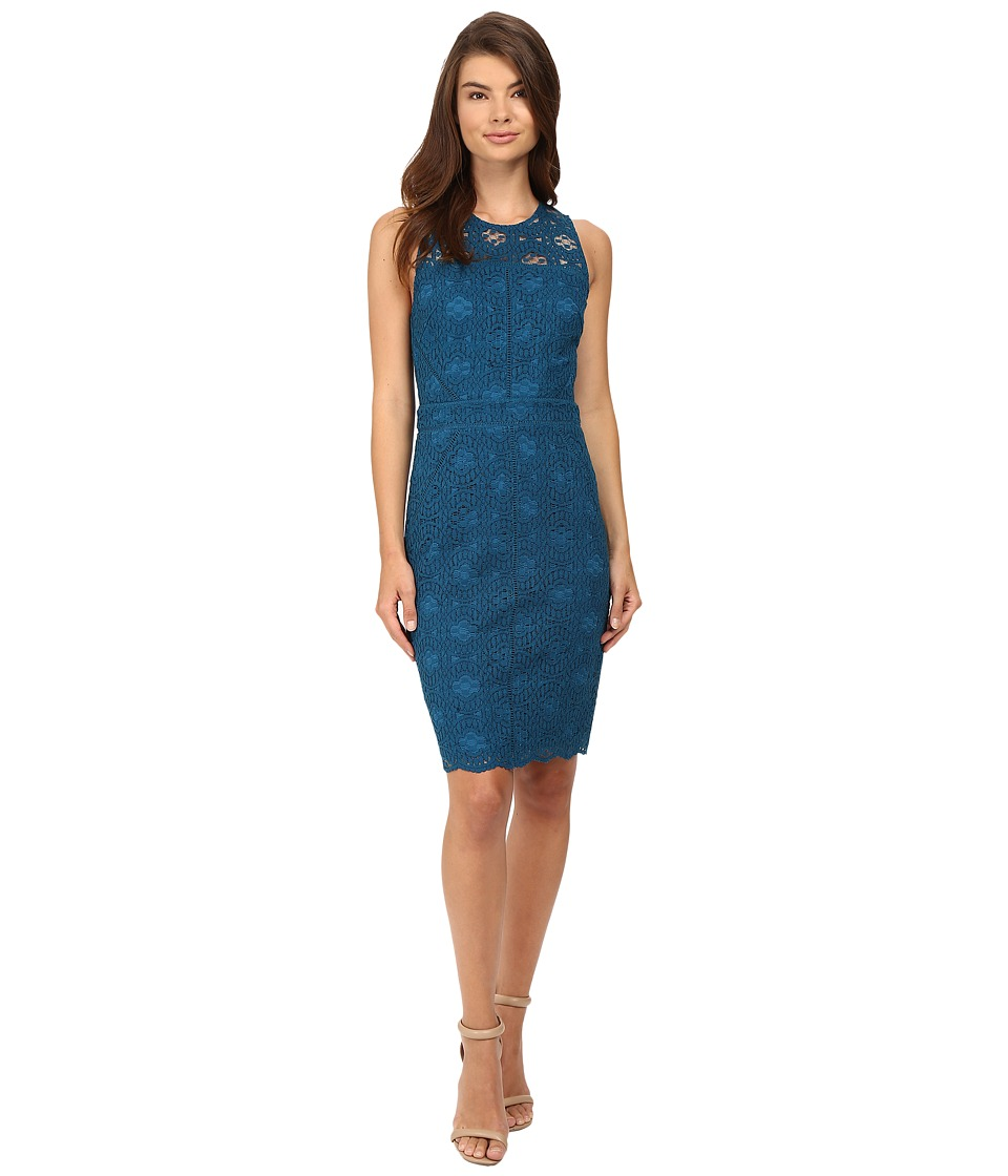 Adelyn Rae - Lace Sheath Dress (Teal) Women's Dress