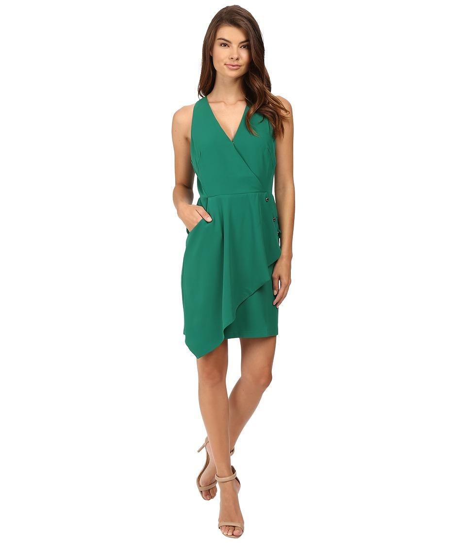 Adelyn Rae - Woven Surplice Sheath Dress (Green) Women's Dress