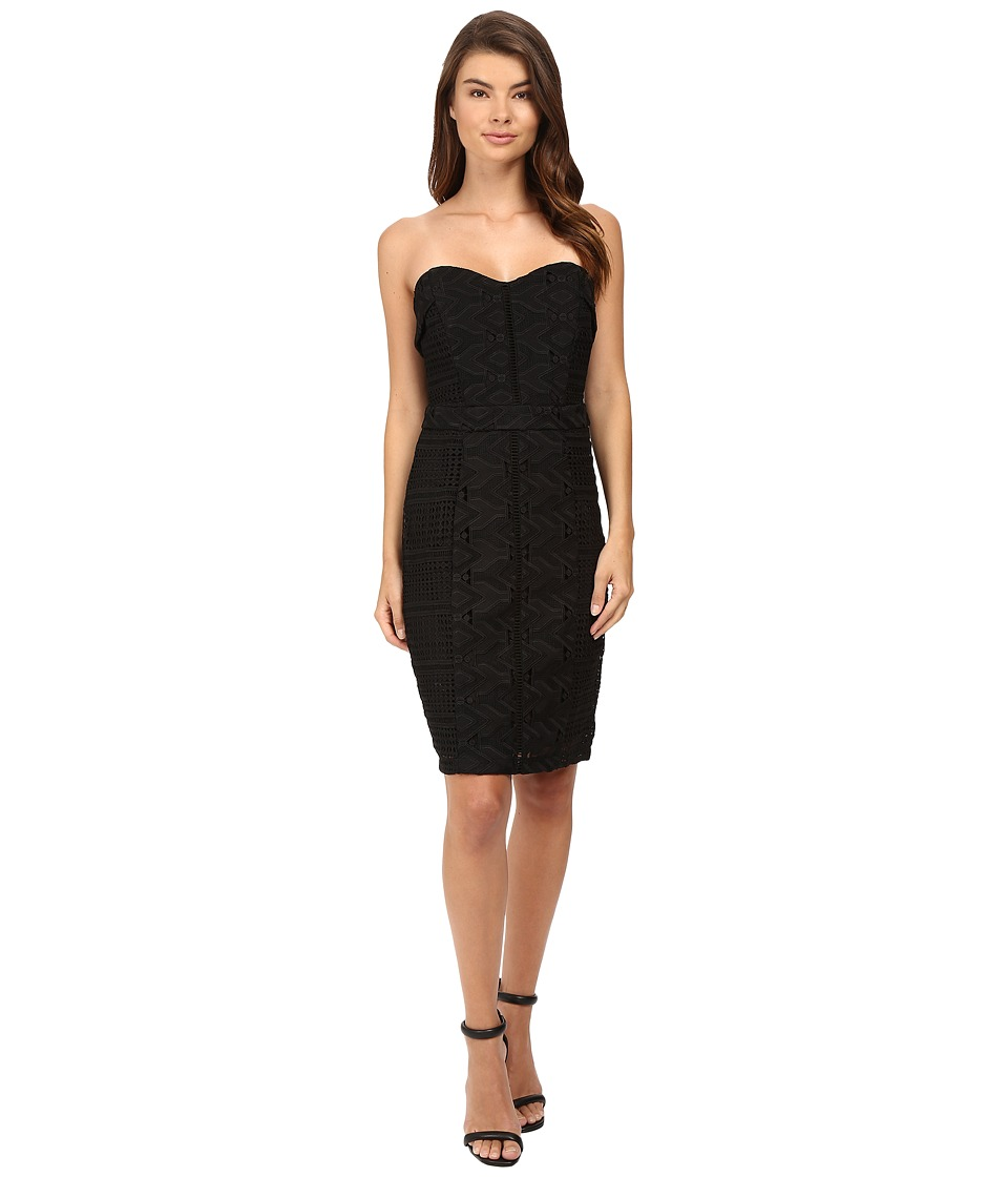 Adelyn Rae - Woven Tube Dress (Black) Women's Dress