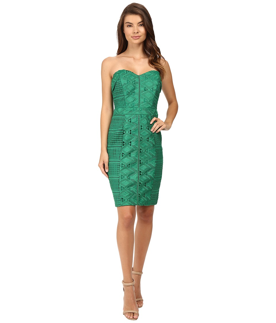 Adelyn Rae - Woven Tube Dress (Forest Green) Women's Dress