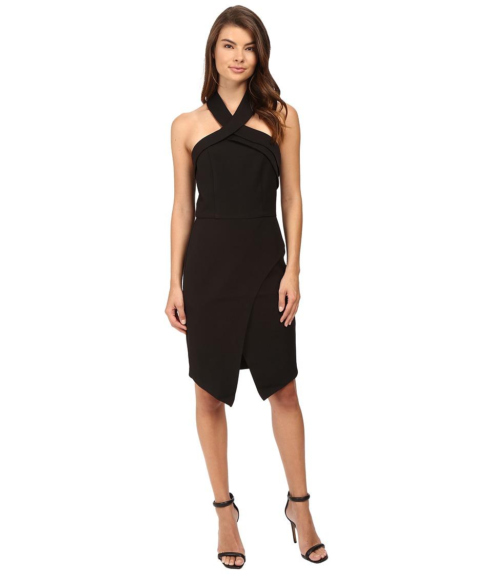 Adelyn Rae - Woven Halter Dress (Black) Women's Dress
