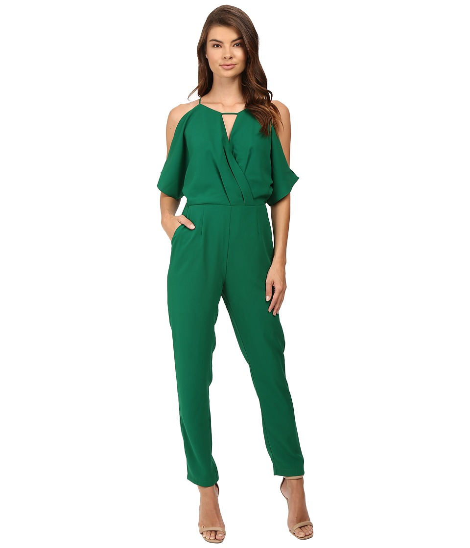 Adelyn Rae - Woven Jacquard Jumpsuit (Green) Women's Jumpsuit & Rompers One Piece