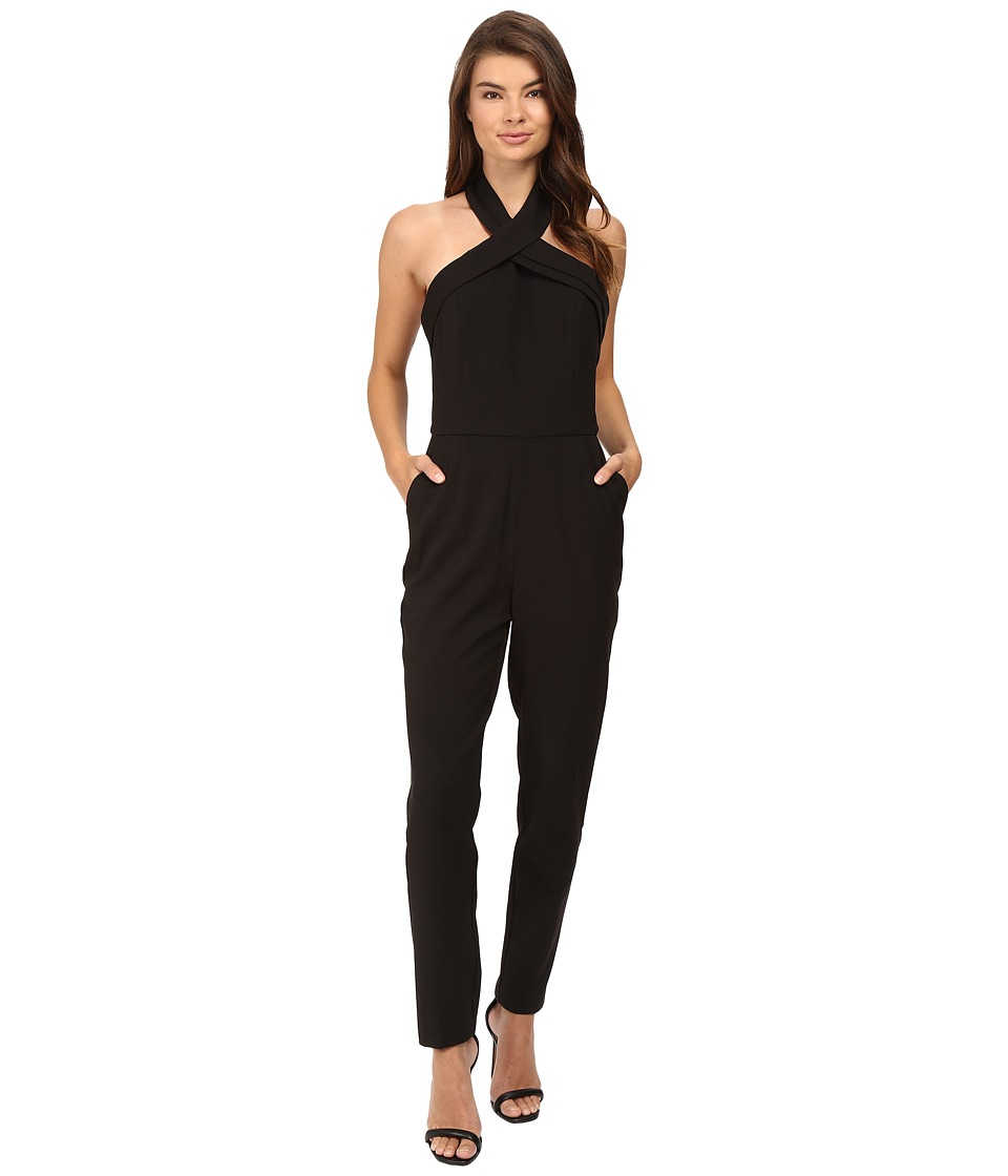 Adelyn Rae - Halter Jumpsuit (Black) Women's Jumpsuit & Rompers One Piece