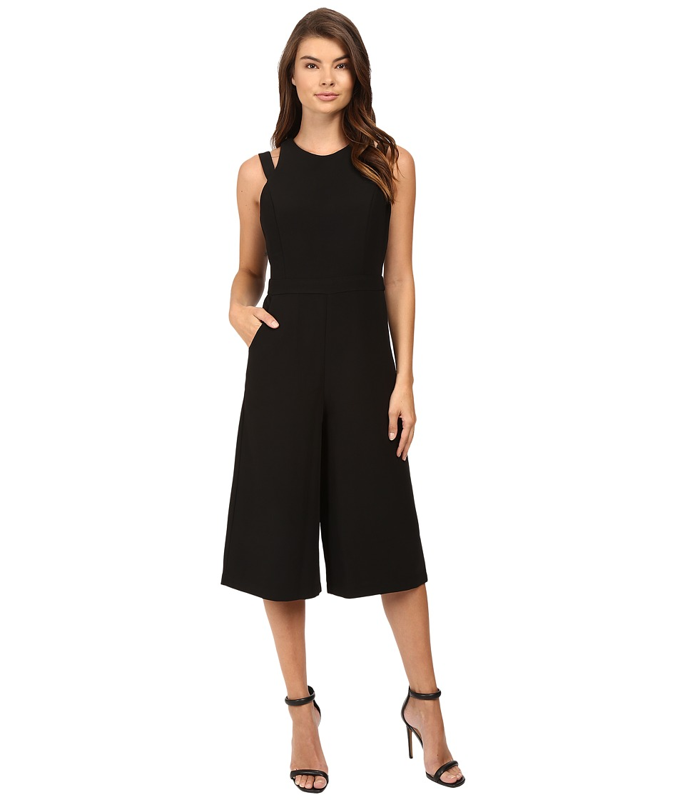 Adelyn Rae - Halter Culotte Jumpsuit (Black) Women's Jumpsuit & Rompers One Piece
