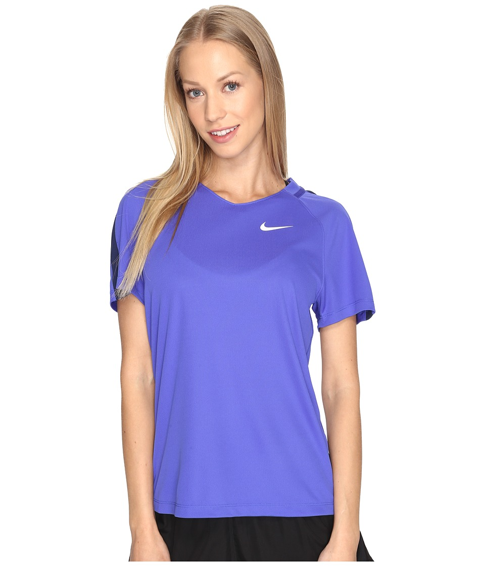 Nike - Dry Short Sleeve Soccer Top (Paramount Blue/Binary Blue/White) Women's Clothing