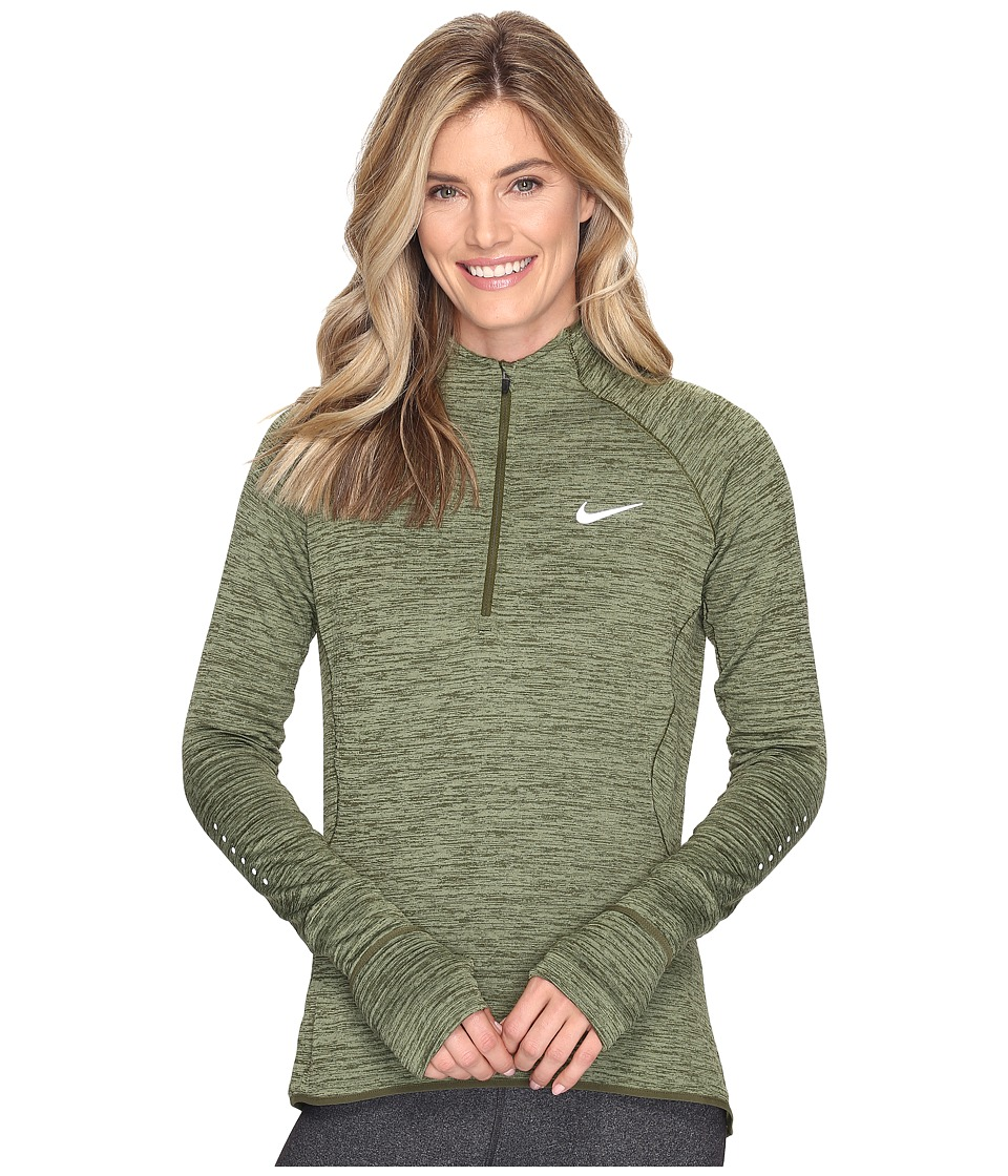 Nike - Element Sphere 1/2 Zip (Legion Green/Heather/Reflective Silver) Women's Clothing