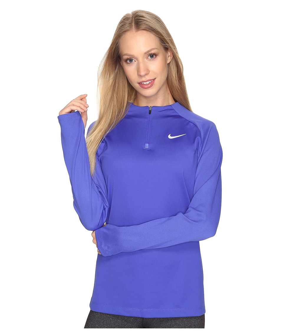 Nike - 1/4 Zip Soccer Drill Top (Paramount Blue/Binary Blue/White) Women's Clothing