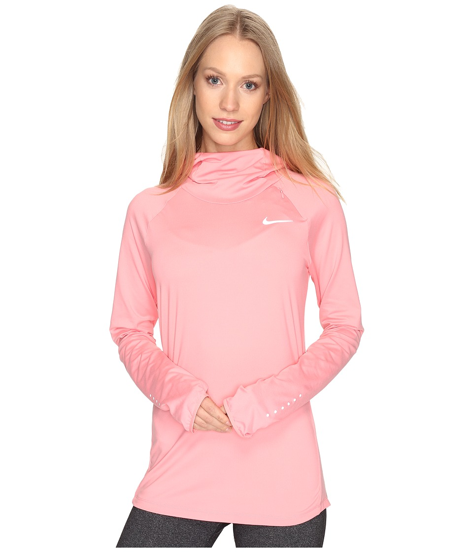 Nike - Dry Element Running Hoodie (Bright Melon/Reflective Silver) Women's Sweatshirt