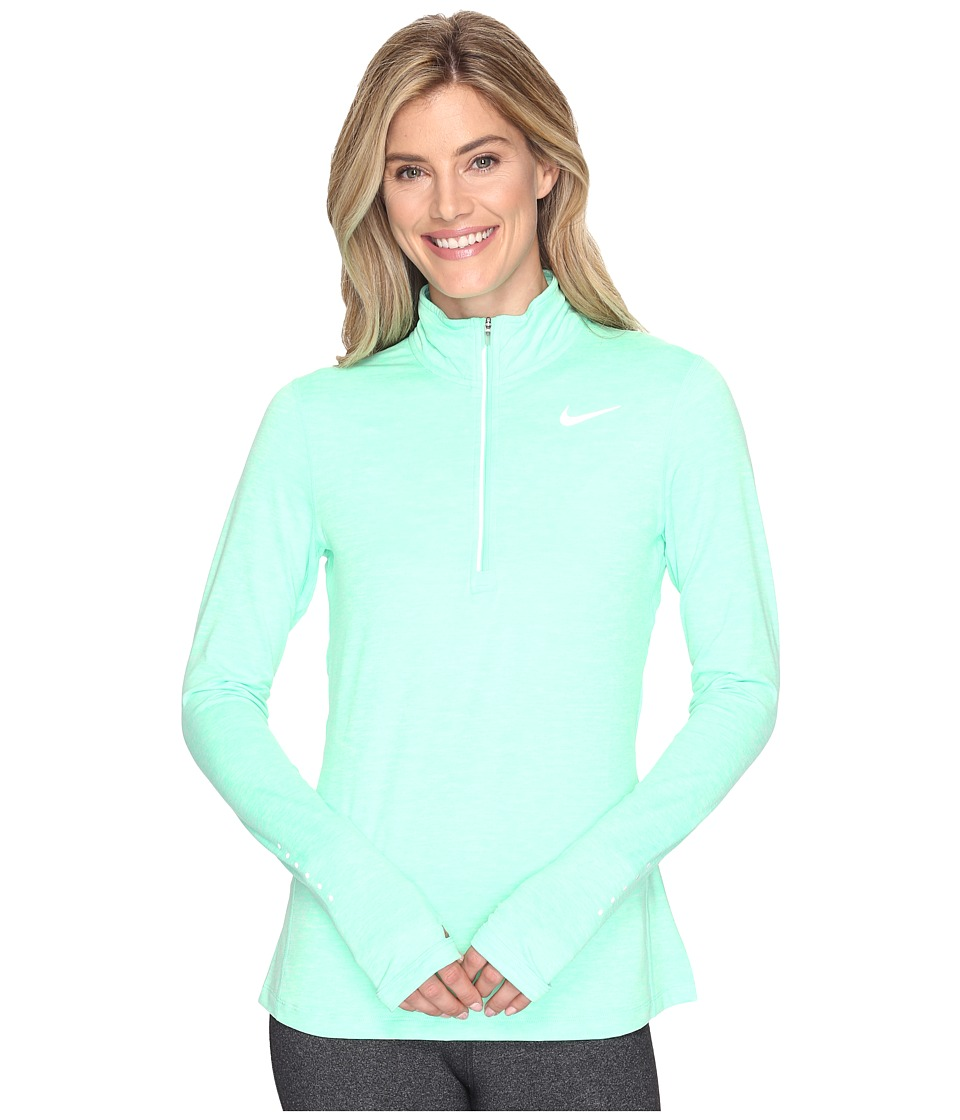 Nike - Dri-FIT Element Half Zip (Electro Green/Heather/Reflective Silver) Women's Long Sleeve Pullover