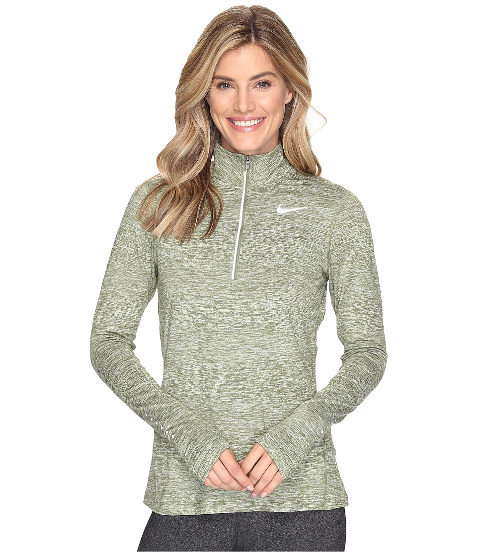 Nike - Dri-FIT Element Half Zip (Palm Green/Heather/Reflective Silver) Women's Long Sleeve Pullover