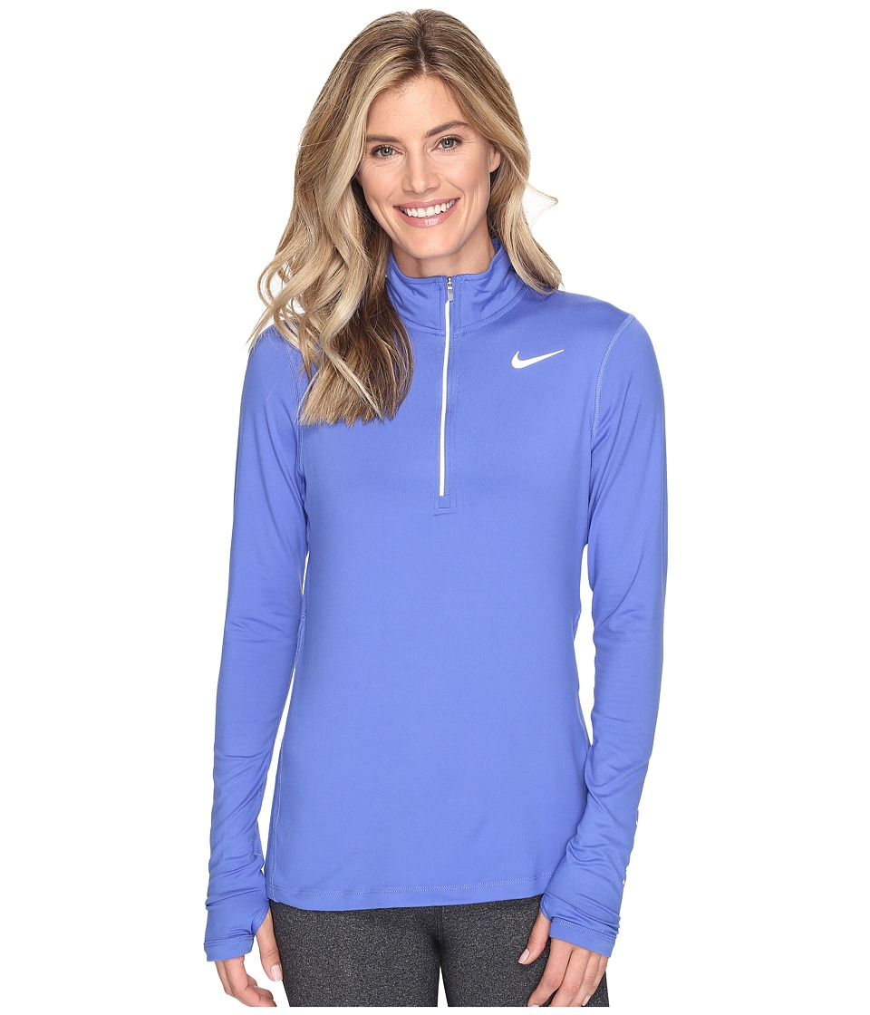 Nike - Dri-FIT Element Half Zip (Comet Blue/Reflective Silver) Women's Long Sleeve Pullover