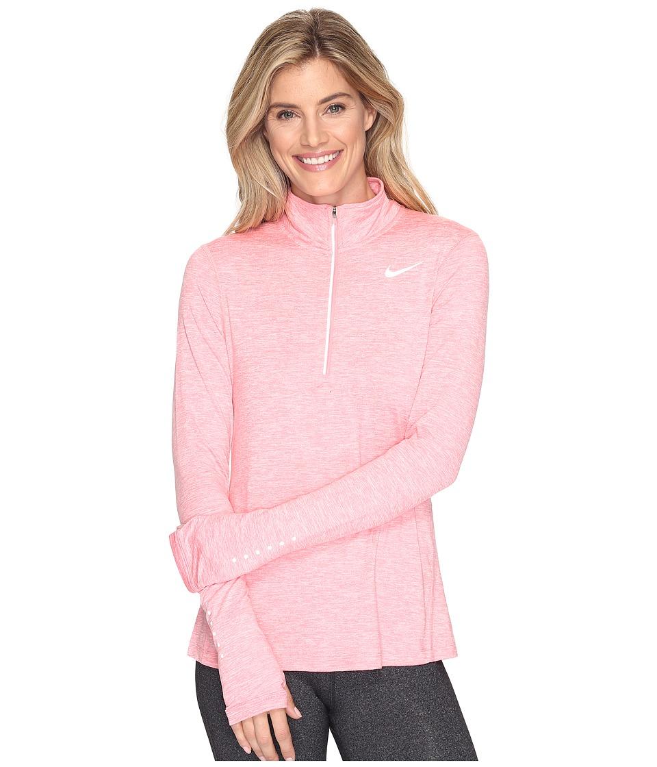 Nike - Dri-FIT Element Half Zip (Bright Melon/Heather/Reflective Silver) Women's Long Sleeve Pullover