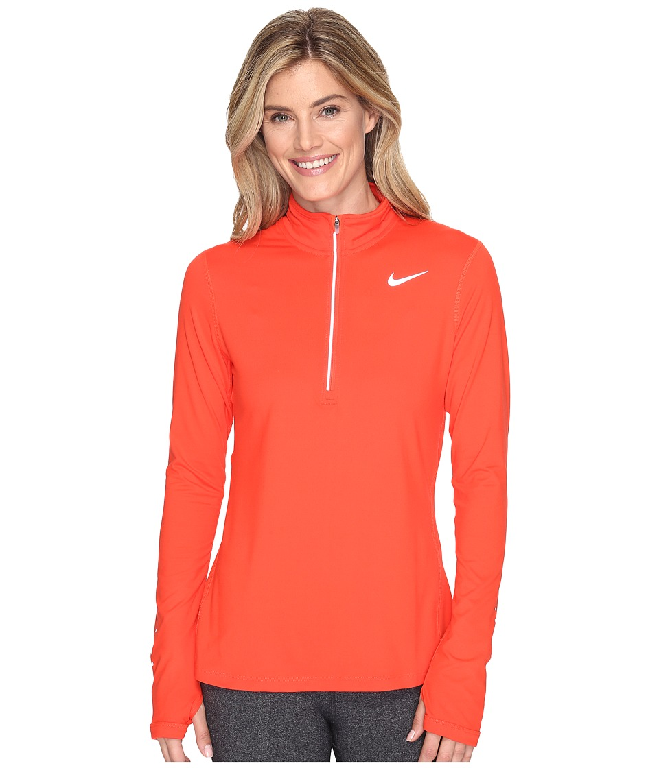 Nike - Dri-FIT Element Half Zip (Max Orange/Reflective Silver) Women's Long Sleeve Pullover