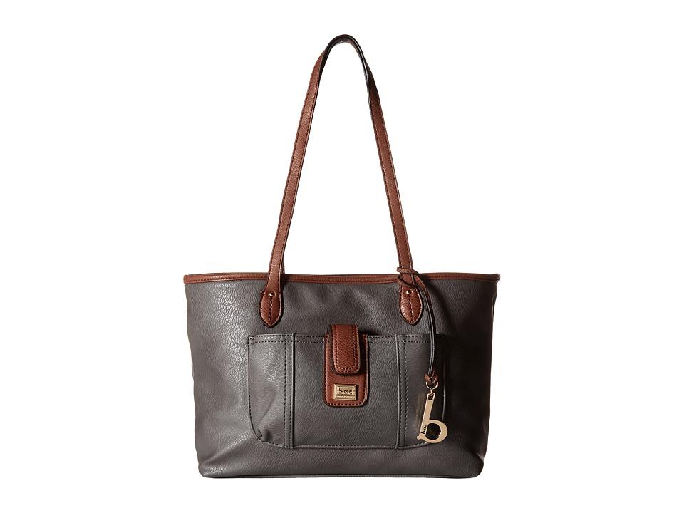 b.o.c. - Merrimac Tote (Charcoal/Chocolate) Tote Handbags