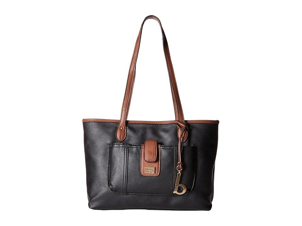 b.o.c. - Merrimac Tote (Black/Walnut) Tote Handbags