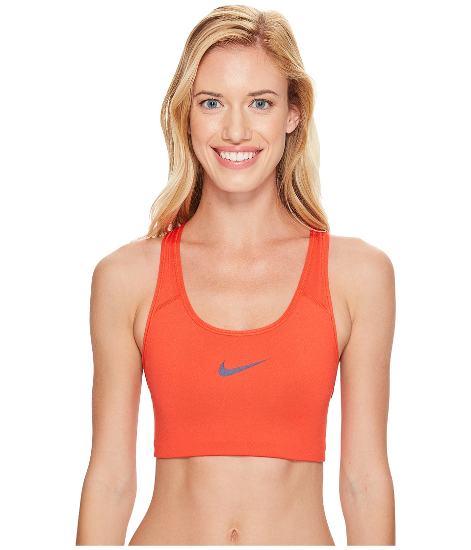 Nike - Pro Classic Swoosh Sports Bra (Max Orange/Binary Blue) Women's Bra