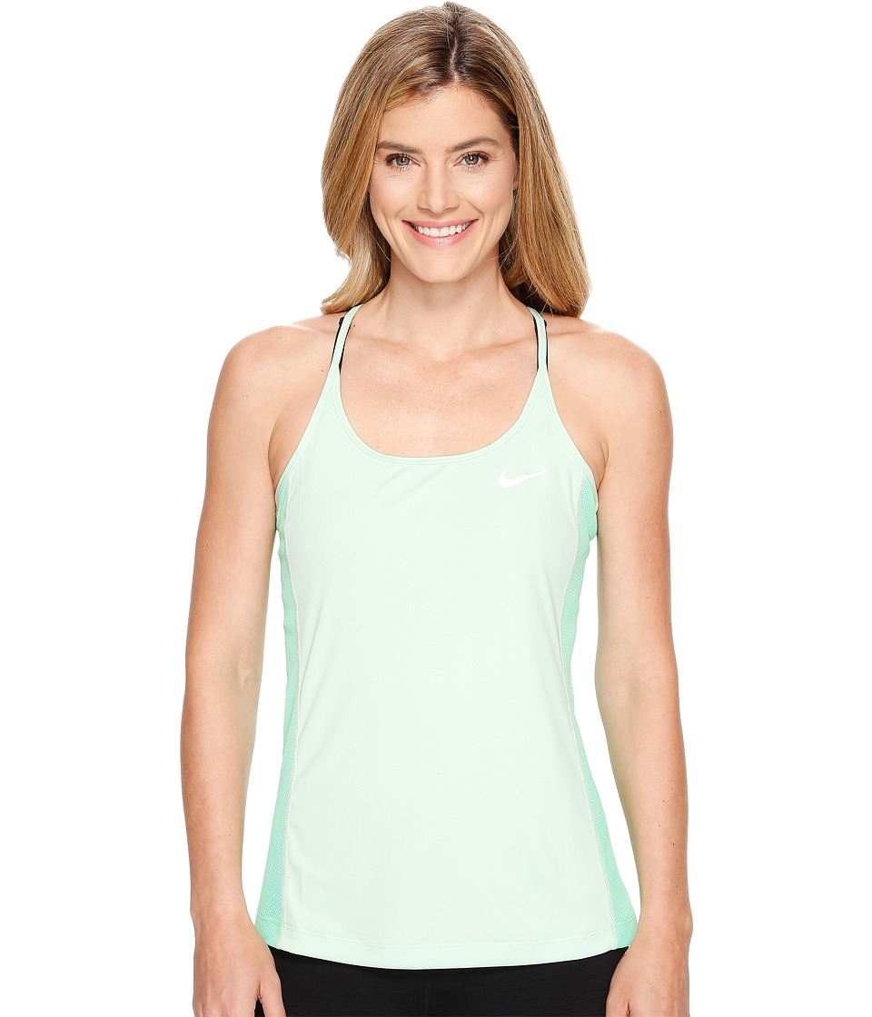 Nike - Dry Miler Running Tank (Fresh Mint/Electro Green/Reflective Silver) Women's Clothing