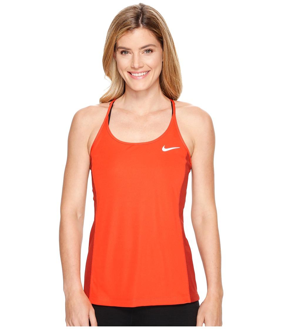 Nike - Dry Miler Running Tank (Max Orange/Dark Cayenne) Women's Clothing