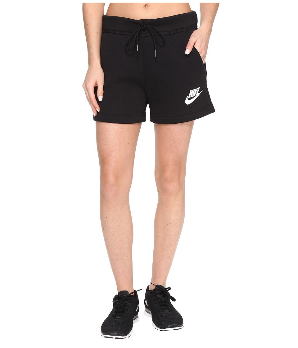 Nike - Rally Short (Black/Black/White) Women's Shorts