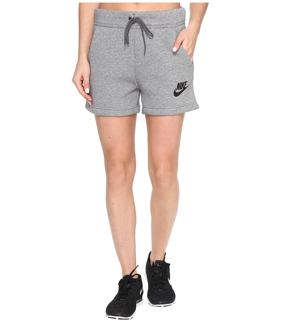 Nike - Rally Short (Carbon Heather/Dark Grey/Black) Women's Shorts