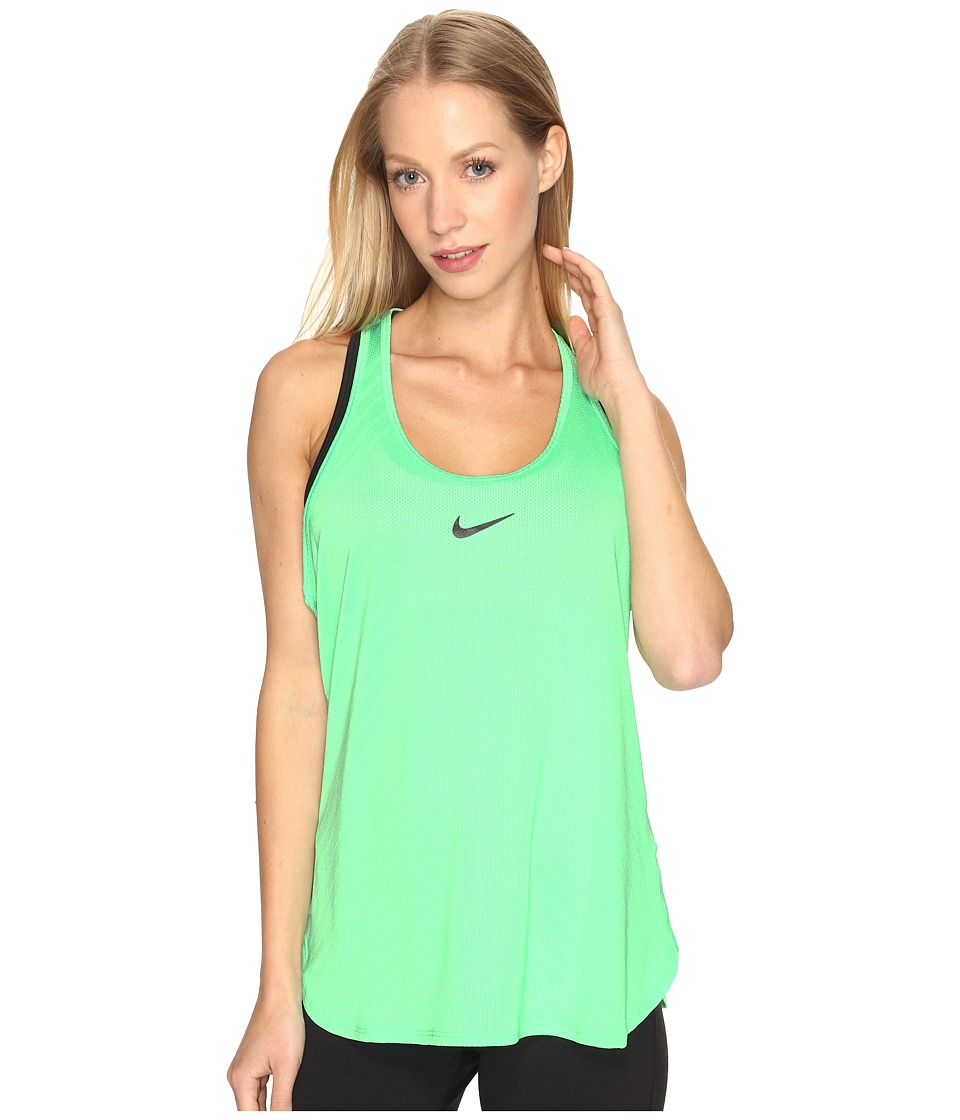 Nike - Court Tennis Tank (Electro Green/Black/Black) Women's Clothing