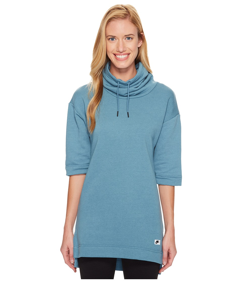 Nike - Sportswear Modern Top (Smokey Blue/Smokey Blue) Women's Clothing