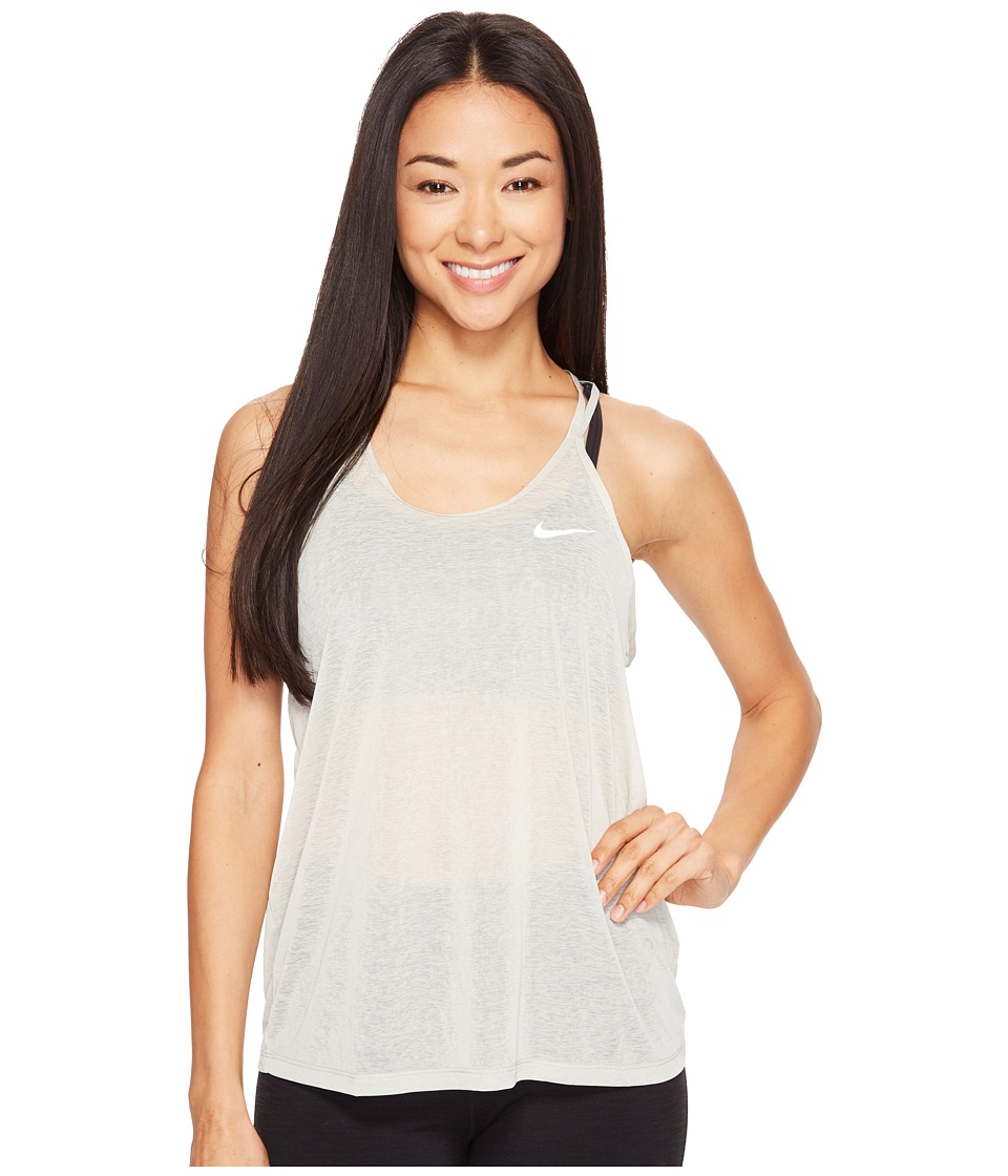 Nike - Dri-FITtm Cool Breeze Strappy Running Tank Top (Pale Grey/Reflective Silver) Women's Sleeveless