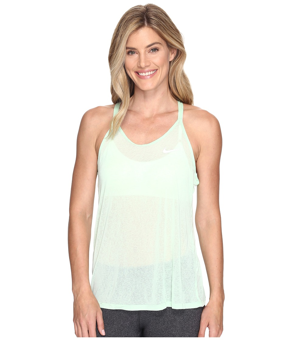 Nike - Dri-FIT Cool Breeze Strappy Running Tank Top (Fresh Mint/Reflective Silver) Women's Sleeveless