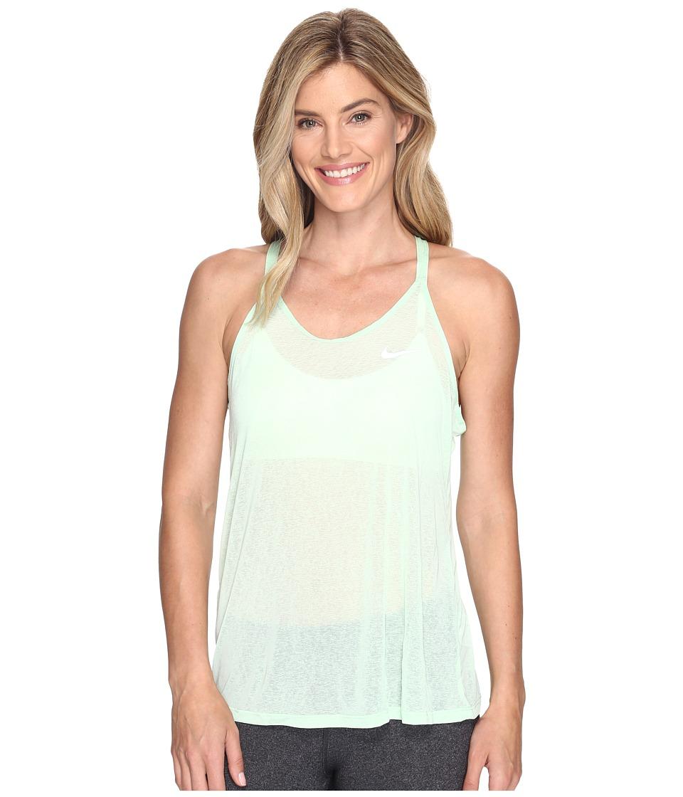 Nike - Dri-FIT Cool Breeze Strappy Running Tank Top (Fresh Mint/Reflective Silver) Women's Sleeveless