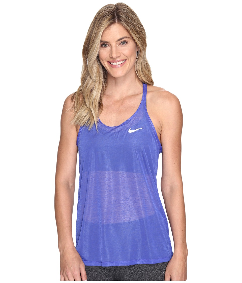 Nike - Dri-FIT Cool Breeze Strappy Running Tank Top (Paramount Blue/Reflective Silver) Women's Sleeveless