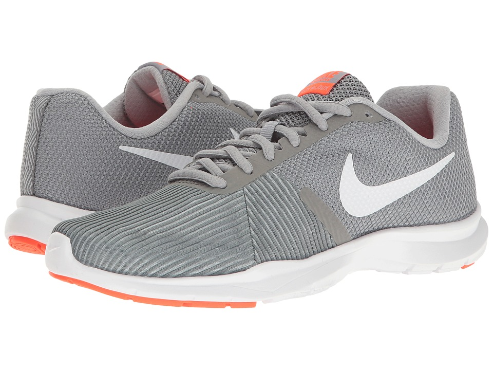 Nike - Flex Bijoux (Cool Grey/White/Wolf Grey/Total Crimson) Women's Cross Training Shoes