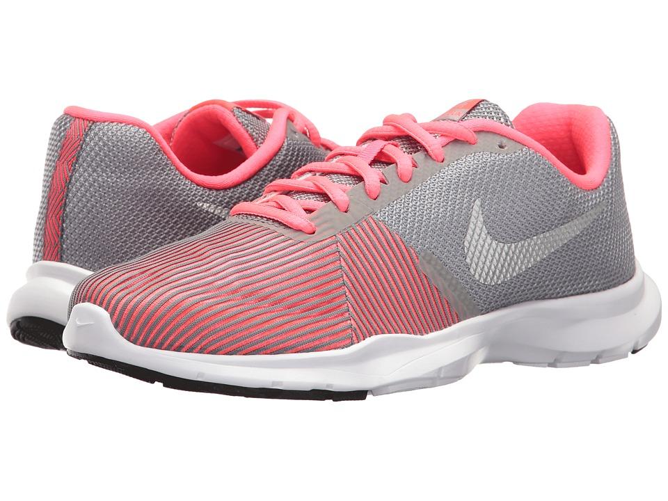 Nike - Flex Bijoux (Cool Grey/Metallic Silver/Racer Pink) Women's Cross Training Shoes