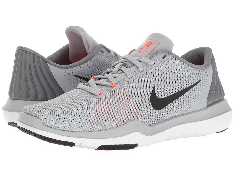 Nike - Flex Supreme TR 5 (Wolf Grey/Black/Cool Grey/Total Crimson) Women's Cross Training Shoes