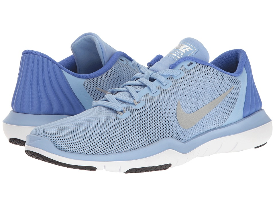Nike - Flex Supreme TR 5 (Aluminum/Metallic Silver/Medium Blue) Women's Cross Training Shoes
