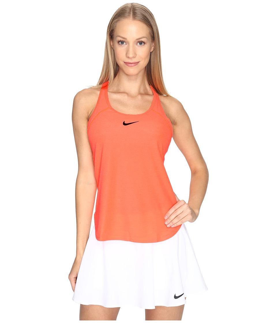 Nike - Court Slam Breathe Tennis Tank Top (Hyper Orange/Black) Women's Sleeveless