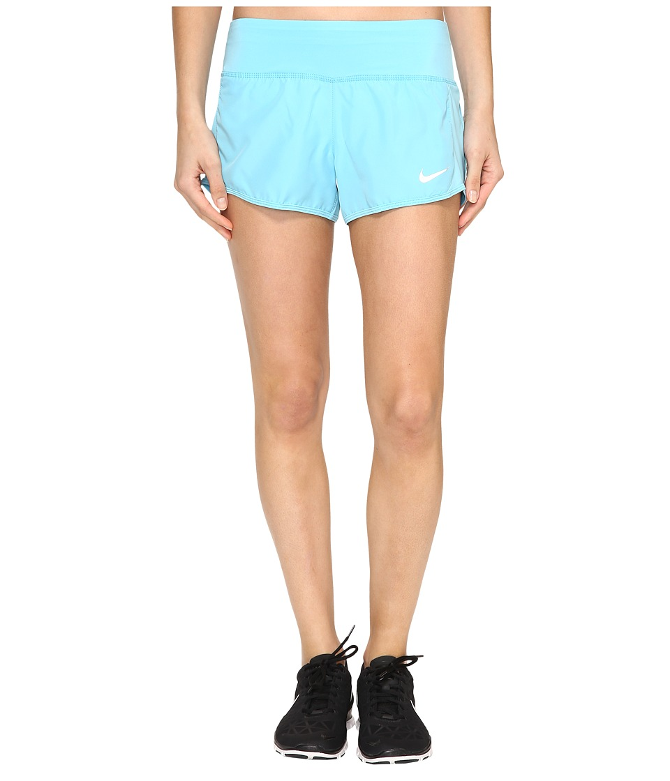 Nike - Crew Shorts (Vivid Sky/Vivid Sky) Women's Shorts