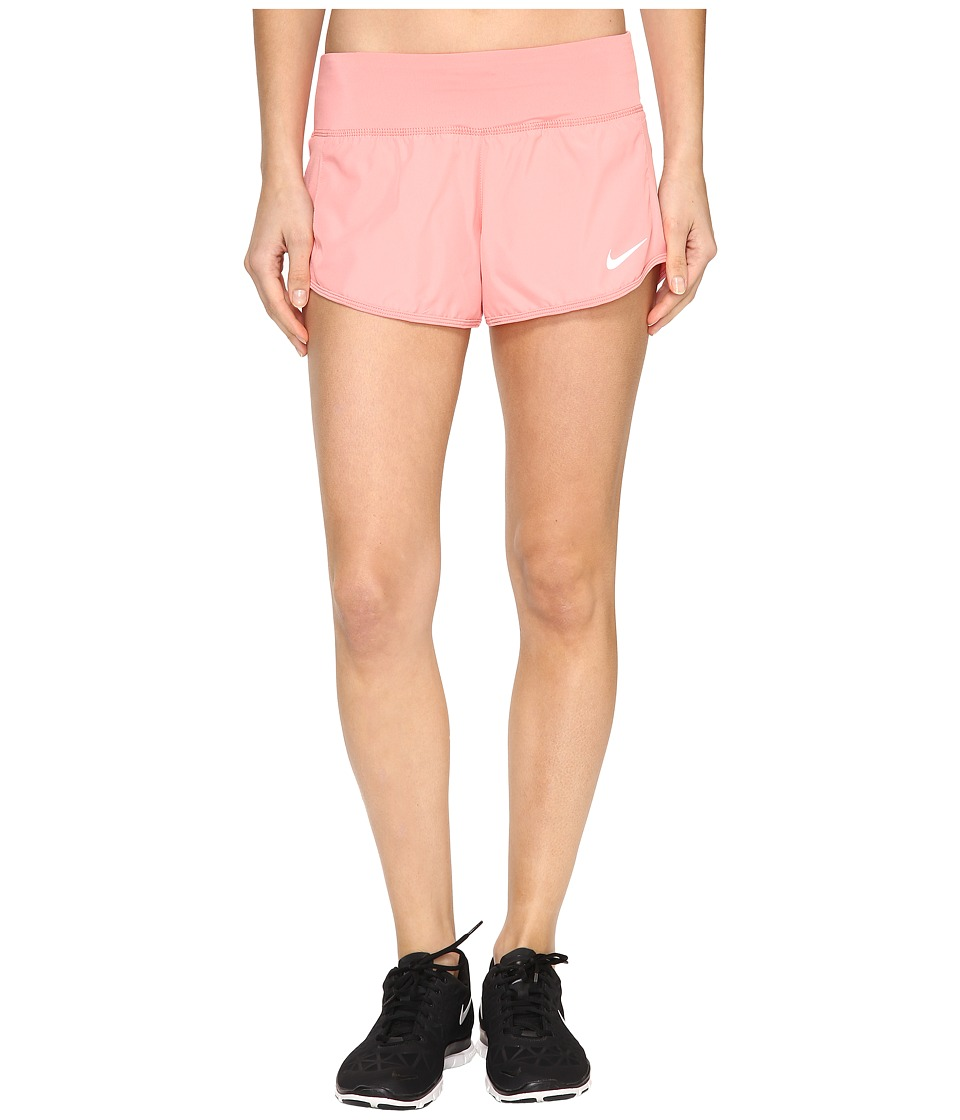 Nike - Crew Shorts (Bright Melon/Reflective Silver) Women's Shorts