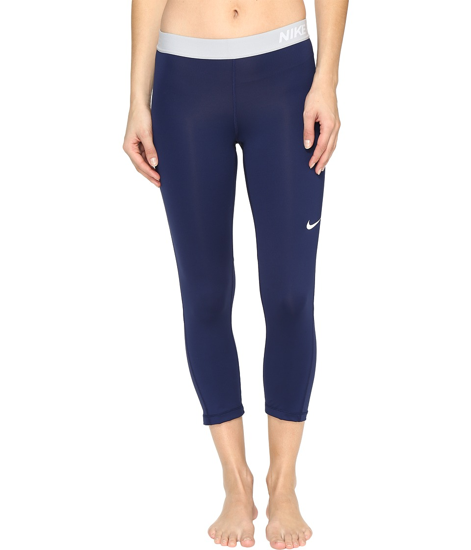 Nike Pro Cool Capris (Binary Blue/Wolf Grey/White) Women