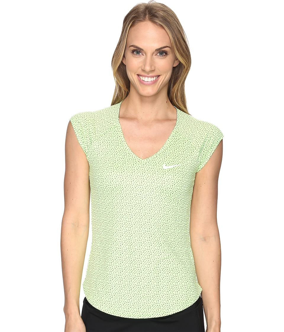 Nike - Court Pure Printed Tennis Top (Ghost Green/White) Women's Clothing