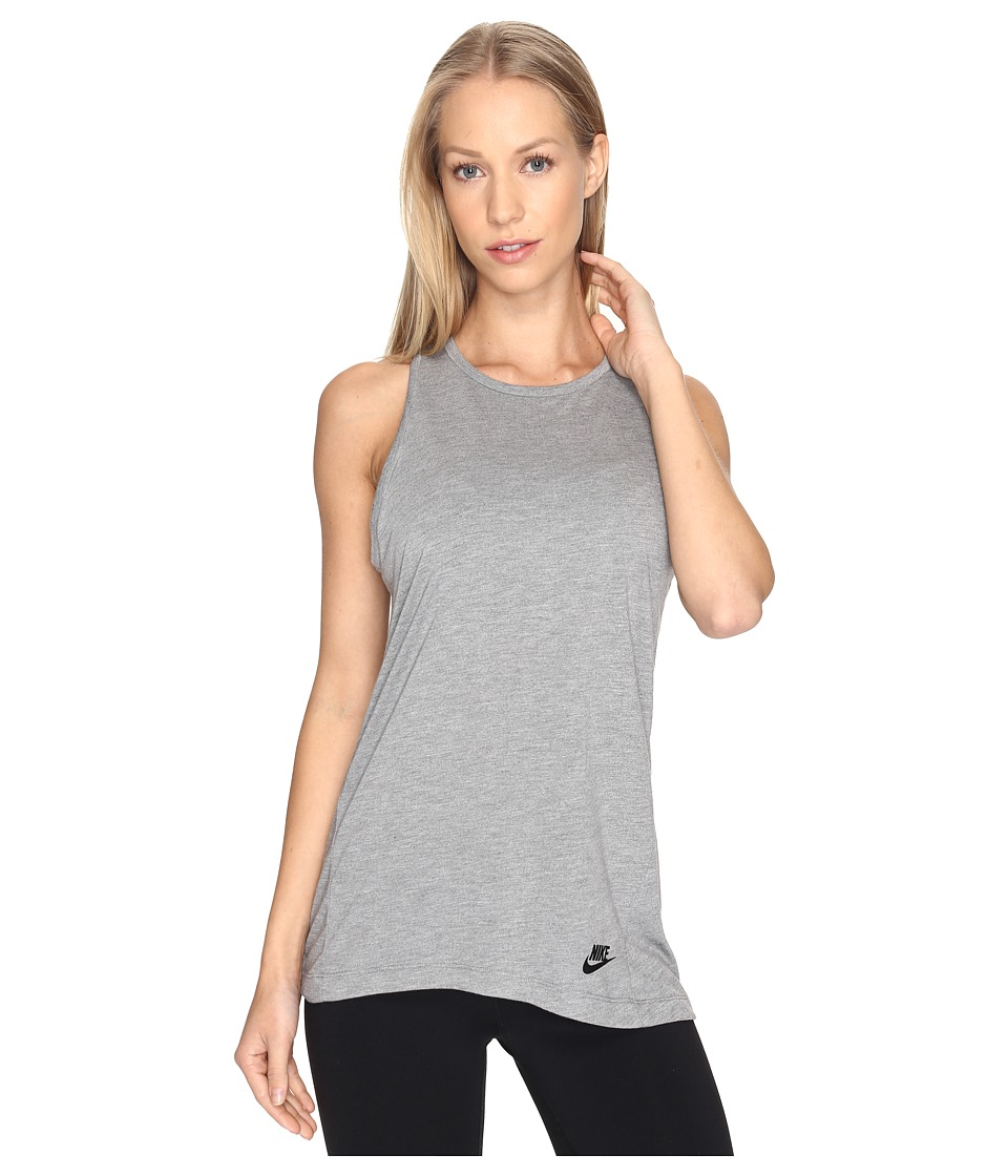 Nike Sportswear Essential Tank Top (Carbon Heather/Anthracite/Black) Women