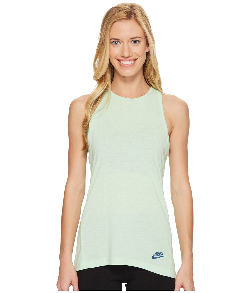 Nike - Sportswear Essential Tank Top (Fresh Mint/Fresh Mint/Squadron Blue) Women's Sleeveless