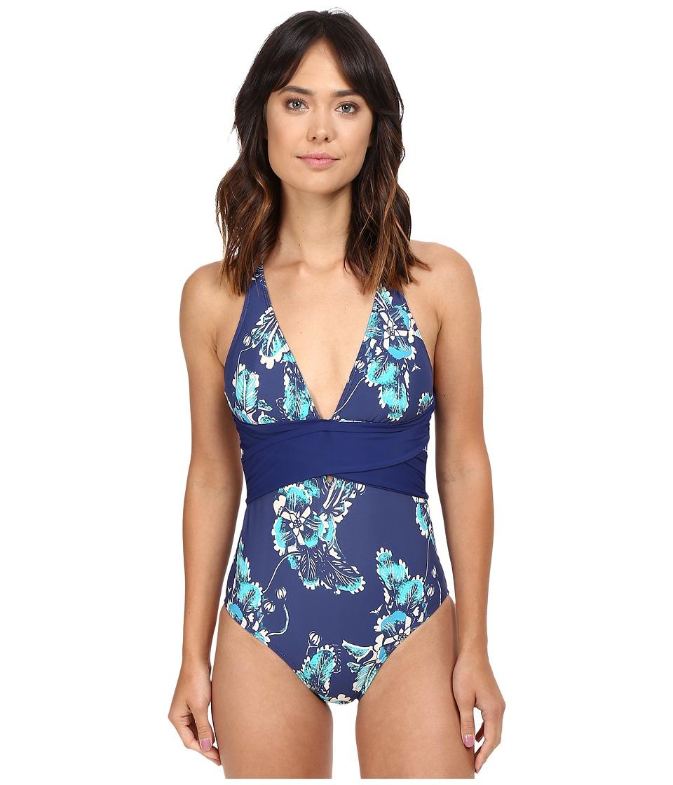 Athena - Balinese Cross One-Piece (Navy) Women's Swimsuits One Piece