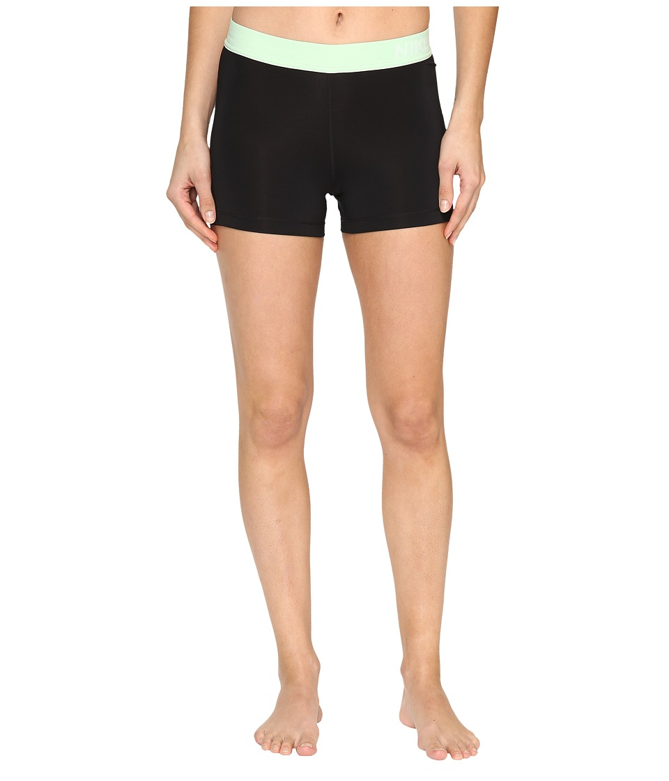 Nike - Pro 3 Cool Compression Training Short (Black/Fresh Mint) Women's Shorts