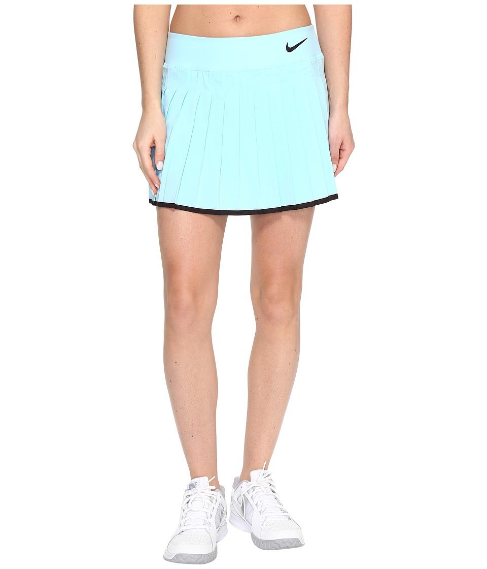 Nike - Victory Skirt (Still Blue/Black/Black) Women's Skort