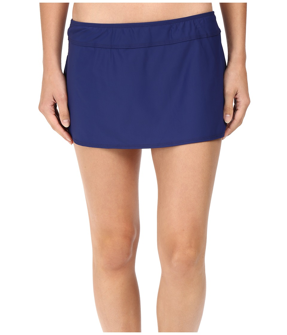 Athena - Solids A-Line Skirt Cover-Up (Navy) Women's Swimwear