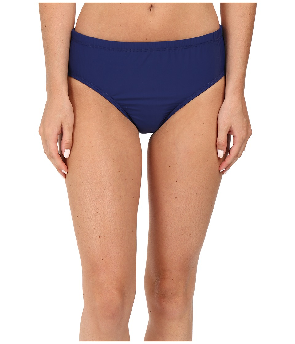 Athena Solids Mid Waist Pants (Navy) Women
