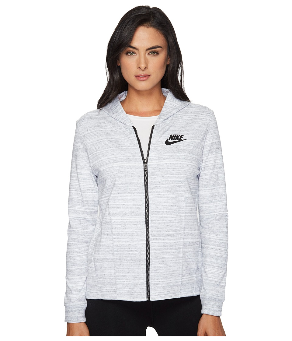 Nike - Sportswear Advance 15 Knit Jacket (White/Black) Women's Coat