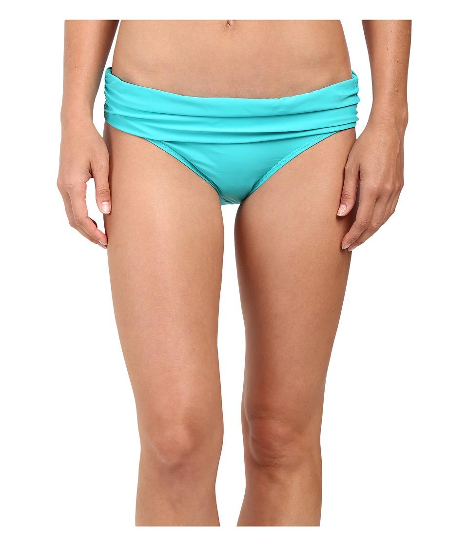 Athena - Cabana Solids Lani Banded Bikini Bottom (Teal) Women's Swimwear