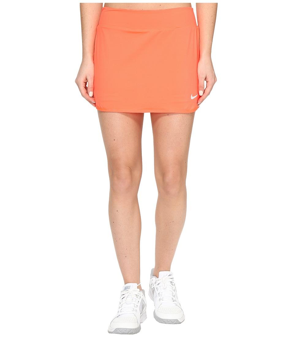 Nike Court Pure Tennis Skirt (Hyper Orange/White) Women